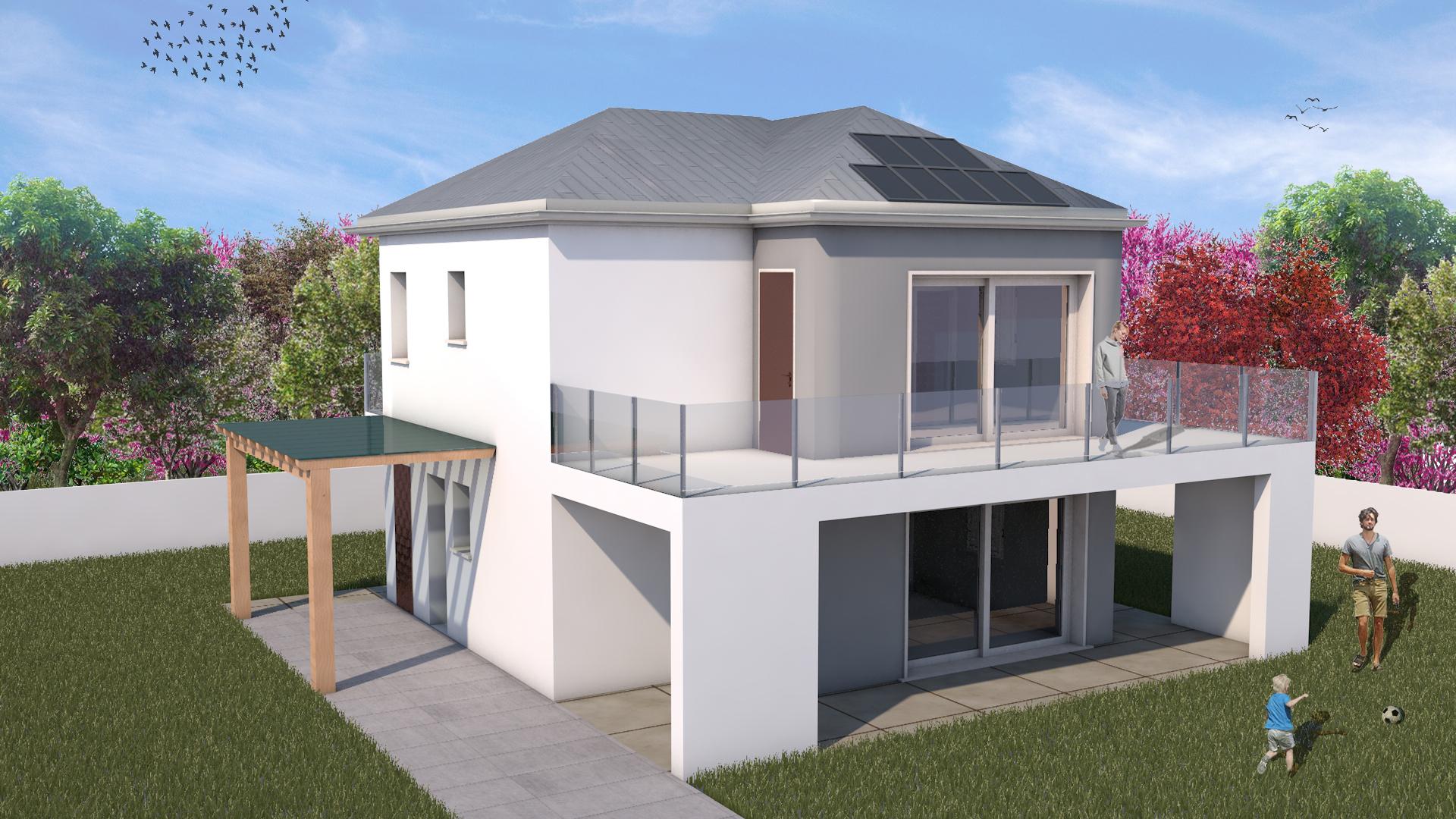 Costo Costruzione Casa Al Grezzo linea moderna - casa personalizzabile, ecologica, energetica
